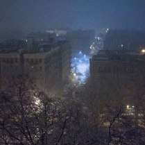 An evening snow storm Out My Window